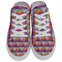 Trianggle Background Colorful Triangle Half Slippers