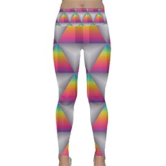 Trianggle Background Colorful Triangle Lightweight Velour Classic Yoga Leggings
