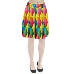 Background Colorful Abstract Pleated Skirt by Wegoenart