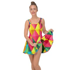 Background Colorful Abstract Inside Out Casual Dress
