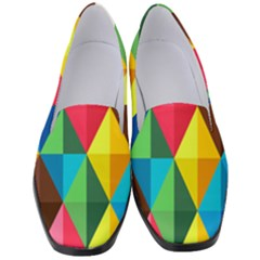 Background Colorful Abstract Women s Classic Loafer Heels by Wegoenart