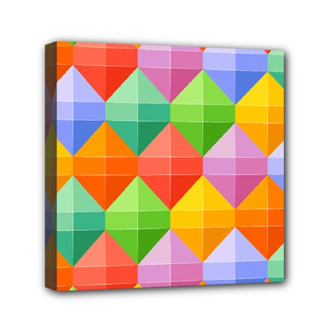 Colorful Geometric Mini Canvas 6  X 6  (stretched)