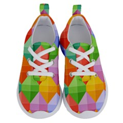 Colorful Geometric Running Shoes