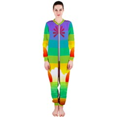 Seaside Sunrise Colorful Ocean Sea Onepiece Jumpsuit (ladies)