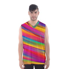 Colorful Background Men s Basketball Tank Top