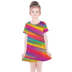 Colorful Background Kids  Simple Cotton Dress