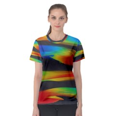 Abstarct Pattern Colorful Background Women s Sport Mesh Tee