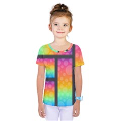 Background Colorful Abstract Kids  One Piece Tee