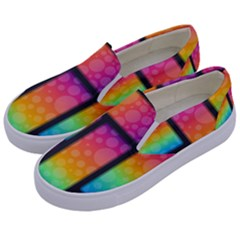 Background Colorful Abstract Kids  Canvas Slip Ons by Wegoenart