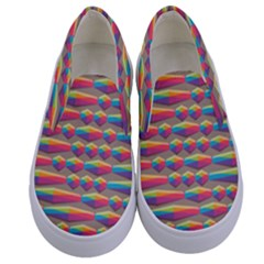 Background Abstract Colorful Kids  Canvas Slip Ons