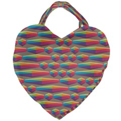 Background Abstract Colorful Giant Heart Shaped Tote by Wegoenart