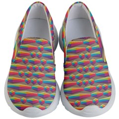 Background Abstract Colorful Kids  Lightweight Slip Ons by Wegoenart