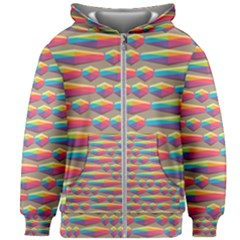 Background Abstract Colorful Kids  Zipper Hoodie Without Drawstring