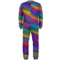Colorful Background Onepiece Jumpsuit (men)
