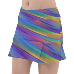 Colorful Background Tennis Skirt