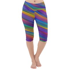 Colorful Background Lightweight Velour Cropped Yoga Leggings