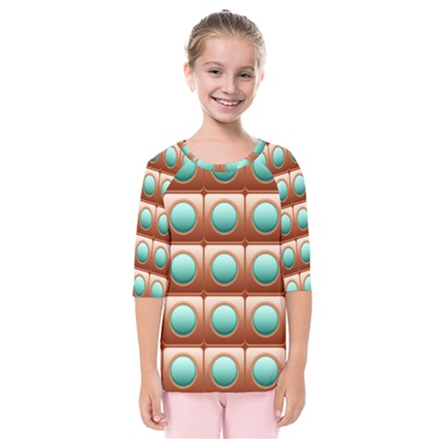 Abstract Background Circle Square Kids  Quarter Sleeve Raglan Tee by Wegoenart