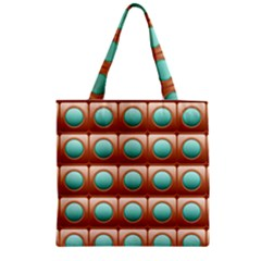 Abstract Background Circle Square Zipper Grocery Tote Bag