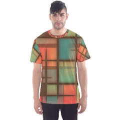 Background Abstract Colorful Men s Sports Mesh Tee