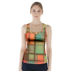 Background Abstract Colorful Racer Back Sports Top by Wegoenart
