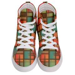Background Abstract Colorful Men s Hi Top Skate Sneakers