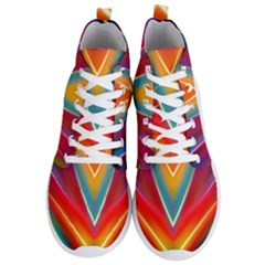 Colorful Background Art Pattern Men s Lightweight High Top Sneakers