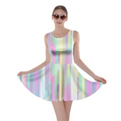 Background Abstract Pastels Skater Dress