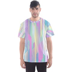 Background Abstract Pastels Men s Sports Mesh Tee