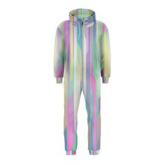 Background Abstract Pastels Hooded Jumpsuit (kids)