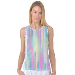 Background Abstract Pastels Women s Basketball Tank Top