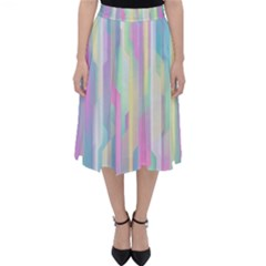 Background Abstract Pastels Classic Midi Skirt