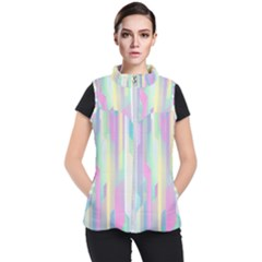 Background Abstract Pastels Women s Puffer Vest