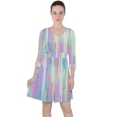Background Abstract Pastels Ruffle Dress