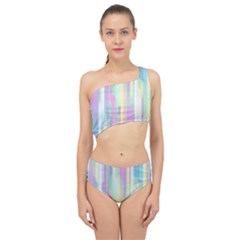 Background Abstract Pastels Spliced Up Two Piece Swimsuit by Wegoenart