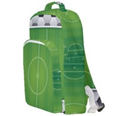 Background Sports Soccer Football Double Compartment Backpack