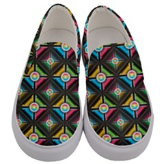 Seamless Pattern Background Abstract Men s Canvas Slip Ons