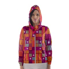 Abstract Background Colorful Hooded Windbreaker (women) by Wegoenart