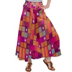 Abstract Background Colorful Satin Palazzo Pants