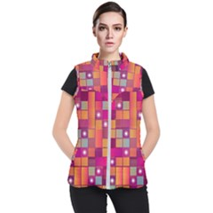 Abstract Background Colorful Women s Puffer Vest