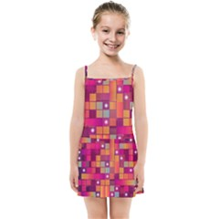 Abstract Background Colorful Kids  Summer Sun Dress