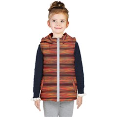 Colorful Abstract Background Strands Kids  Hooded Puffer Vest by Wegoenart