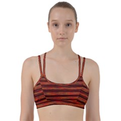 Colorful Abstract Background Strands Line Them Up Sports Bra