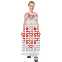 Valentine Valentines Day Card Love Kids  Short Sleeve Maxi Dress by Wegoenart