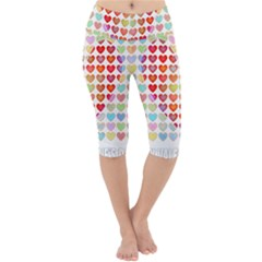 Valentine Valentines Day Card Love Lightweight Velour Cropped Yoga Leggings by Wegoenart