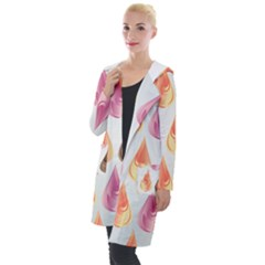 Background Colorful Abstract Hooded Pocket Cardigan