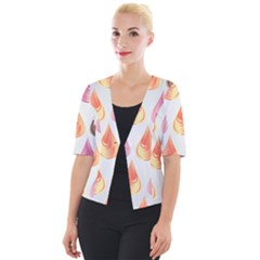 Background Colorful Abstract Cropped Button Cardigan by Wegoenart