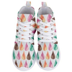 Background Colorful Abstract Women s Lightweight High Top Sneakers