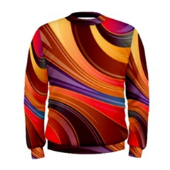 Abstract Colorful Background Wavy Men s Sweatshirt