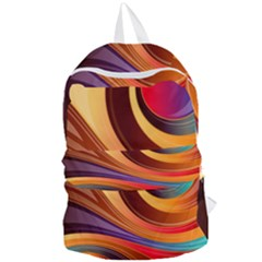 Abstract Colorful Background Wavy Foldable Lightweight Backpack