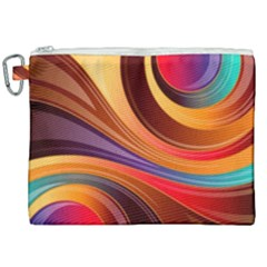 Abstract Colorful Background Wavy Canvas Cosmetic Bag (xxl)